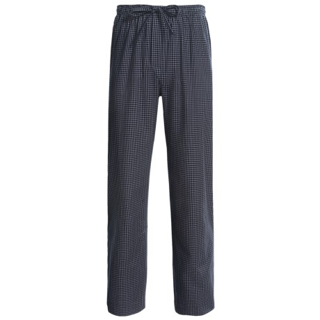 Savile Collection by Derek Rose Pajama Bottoms with Button-Fly (For Men) in Blue/White Pin Stripe