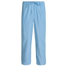 Savile Collection by Derek Rose Pajama Pants with Button-Fly (For Men) in Baby Blue/Blue Multi Stripe - Closeouts