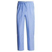 Savile Collection by Derek Rose Pajama Pants with Button-Fly (For Men) in Baby Blue/Blue Wide Stripe - Closeouts