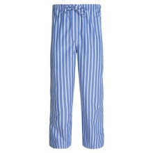 Savile Collection by Derek Rose Pajama Pants with Button-Fly (For Men) in Blue/White Bengal Stripe - Closeouts