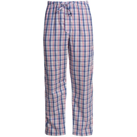 Savile Collection by Derek Rose Pajama Pants with Button-Fly (For Men) in Blue/White Bengal Stripe