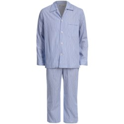 Savile Collection by Derek Rose Pajamas - Cotton, Long Sleeve (For Men) in Uk 1622 Navy/Blue/Red/White