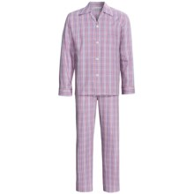 Savile Collection by Derek Rose Pajamas - Cotton, Long Sleeve (For Men) in Red/Blue Plaid - Closeouts