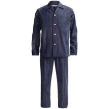 Savile Collection by Derek Rose Pajamas - Cotton, Long Sleeve (For Men) in Uk 1622 Navy/Blue/Red/White - Closeouts