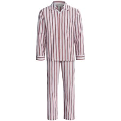 Savile Collection by Derek Rose Pajamas - Cotton, Long Sleeve (For Men) in Uk 1622 Navy/Blue/Red/White