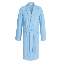 Savile Collection by Derek Rose Robe - Cotton (For Men) in Baby Blue Mini Gingham - Closeouts