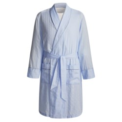 Savile Collection by Derek Rose Robe - Cotton (For Men) in Blue Twill