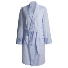 Savile Collection by Derek Rose Robe - Cotton (For Men) in Blue Twill - Closeouts