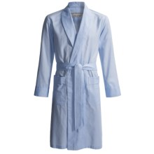 Savile Collection by Derek Rose Robe - Cotton (For Men) in Pale Blue Birdseye - Closeouts