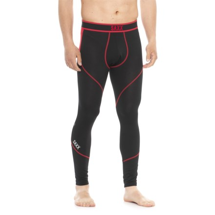 ae003449f6a78 SAXX Underwear Underwear Kinetic Base Layer Tights (For Men) in Black/Red -