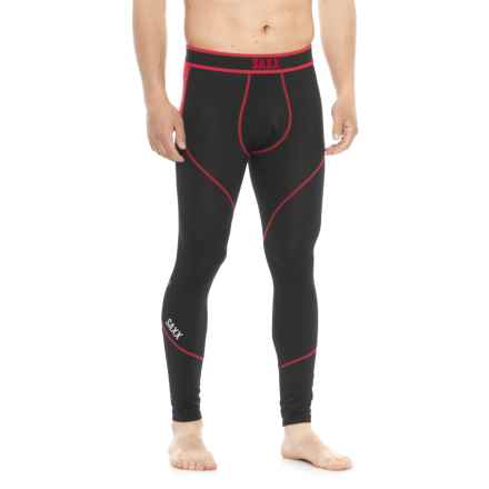 SAXX Underwear Underwear Kinetic Base Layer Tights (For Men) in Black/Red - Closeouts
