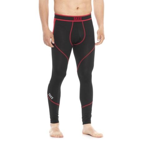 e1359ba7 SAXX Underwear Underwear Kinetic Base Layer Tights (For Men) in Black/Red