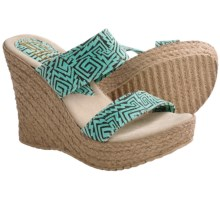 Sbicca Kelli Wedge Sandals (For Women) in Turquoise - Closeouts