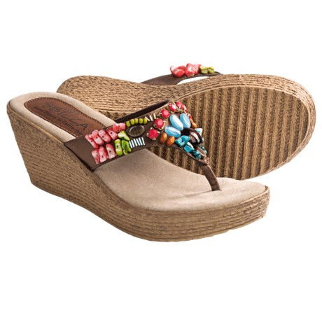Sbicca Nori Wedge Sandals (For Women) in Bronze