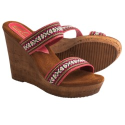 Sbicca Ruby Wedge Sandals (For Women) in Navy/Multi