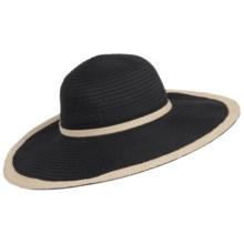 Scala Big-Brim Jute Trim Hat (For Women) in Black - Closeouts