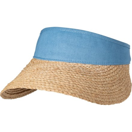 66401793cdd Scala Dyed Cotton Crown Visor (For Women) in Medium Blue