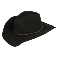 Scala Felted Wool Cowboy Hat (For Men and Women) in Black - Closeouts