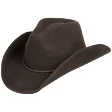 Scala Felted Wool Cowboy Hat (For Men and Women) in Chocolate - Closeouts