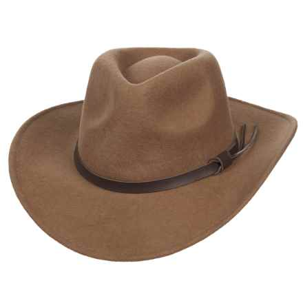 Scala Magellan Crushable Outback Hat - Wool (For Men) in Pecan - Closeouts