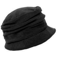 Scala Pleated Microfleece Cloche Hat (For Women) in Black - Closeouts