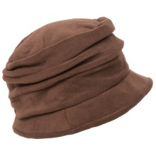 Scala Pleated Microfleece Cloche Hat (For Women) in Brown - Closeouts