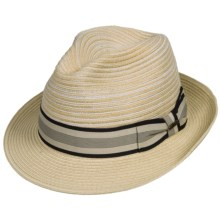 Scala Polybraid Fedora - Toyo Straw (For Men) in Natural - Closeouts