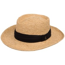 Scala Pro Gambler Hat - Raffia Straw (For Men) in Natural - Closeouts