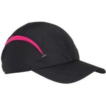 Scala Pro Ultralight Two-Tone Baseball Cap (For Women) in Black/Pink - Overstock