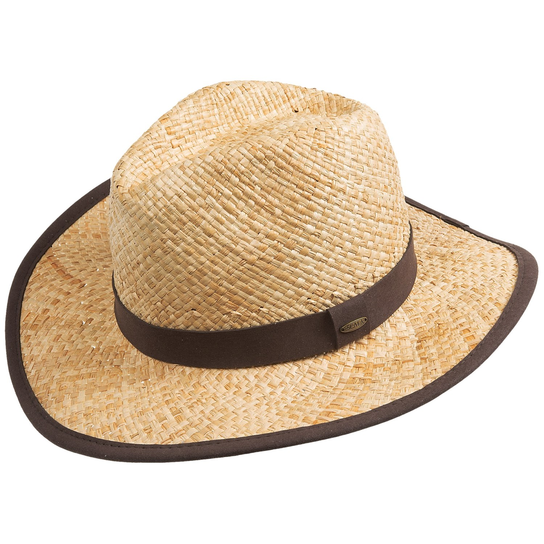 scala raffia safari hat teardrop crown for and