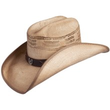Scala Ranch Cowboy Hat - Bangora Straw (For Men and Women) in Brown - Closeouts