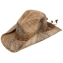 Scala Seagrass Cowboy Hat - Seagrass Straw (For Women) in Tea - Closeouts