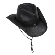 Scala Shapable Cowboy Hat - Toyo Straw (For Men and Women) in Black - Closeouts