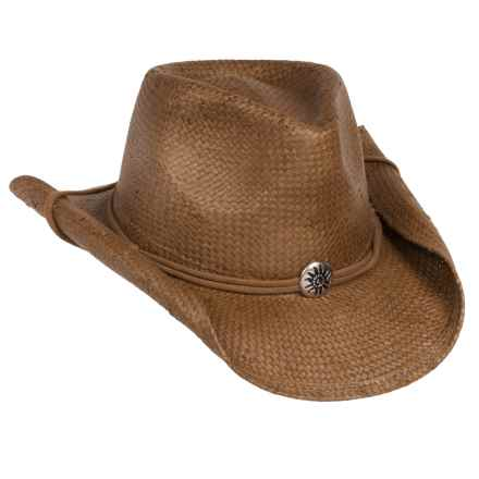 Scala Shapable Cowboy Hat - Toyo Straw (For Men and Women) in Tobacco - Closeouts