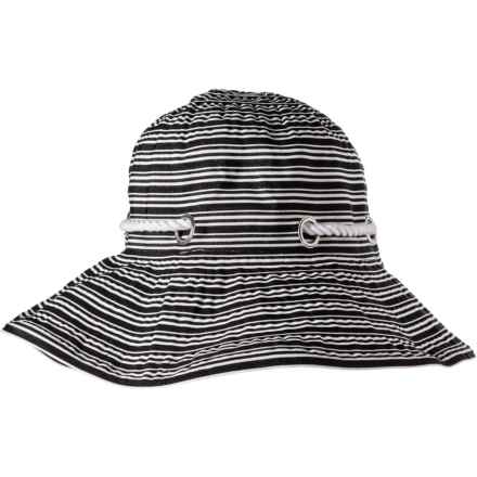 9fc47367a34e4 Scala Stripe Ribbon Bucket Hat with Cord (For Women) in Black