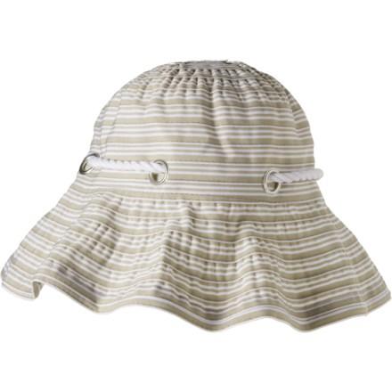 a470066058183 Scala Stripe Ribbon Bucket Hat with Cord (For Women) in Khaki