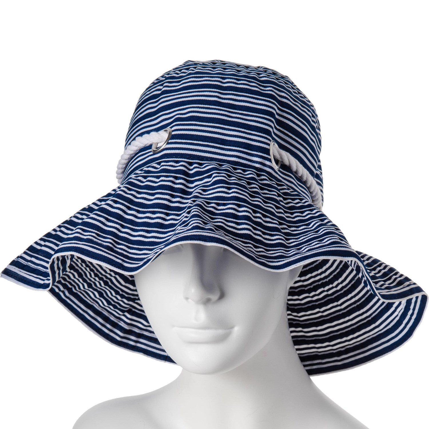 a54ebb11cf506 Scala Stripe Ribbon Bucket Hat with Cord (For Women) - Save 63%