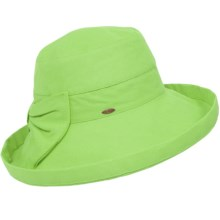 Scala Travel Hat with Bow - UPF 50+ (For Women) in Lime - Closeouts