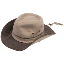 Scala Twill Outback Hat - UPF 50+ (For Men and Women) in Khaki - Closeouts
