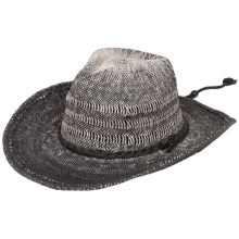 Scala Two-Toned Western Hat - Chin Cord (For Men and Women) in Black - Closeouts