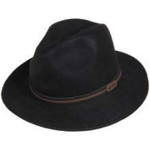 Scala Wool Felt Safari Hat (For Men) in Black - Closeouts