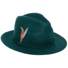Scala Wool Felt Safari Hat (For Women) in Teal - Closeouts
