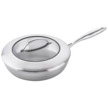 "Scanpan CSX Fry Pan with Lid - 9-1/2"", Stainless Steel, Aluminum in Stainless Steel - Closeouts"