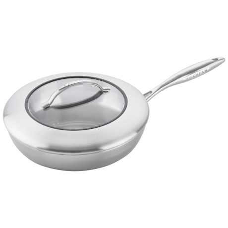 Scanpan CSX Fry Pan with Lid 9 1/2 Stainless Steel, Aluminum