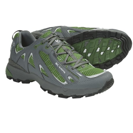 Scarpa Blitz Trail Running Shoes (For Men) in Pine/Pewter