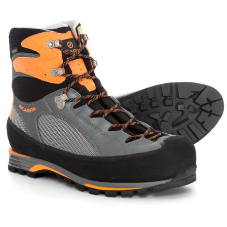 Scarpa Charmoz Pro Gore-Tex® Mountaineering Boots - Waterproof (For Men) in Gray/Gray/Orange