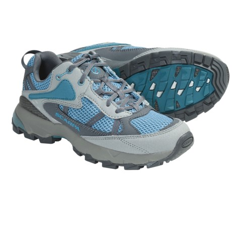 Scarpa Corsa Trail Running Shoes - Recycled Materials (For Women) in Surf/Grey