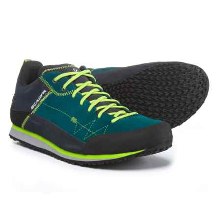 Scarpa Cosmo Hiking Shoes - Suede (For Men) in Lake Blue/Green Glow - Closeouts