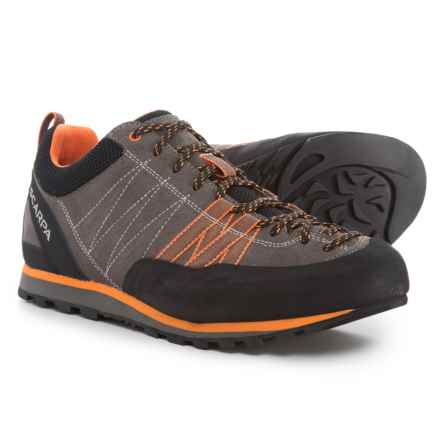 Scarpa Crux Hiking Shoes - Suede (For Men) in Grey/Orange - Closeouts