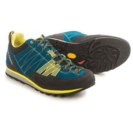 Scarpa Crux Hiking Shoes - Suede (For Men) in Hyper Blue/Yellow - Closeouts